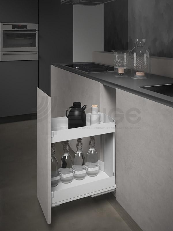 SIGE 004PRO cestello estraibile cucina white