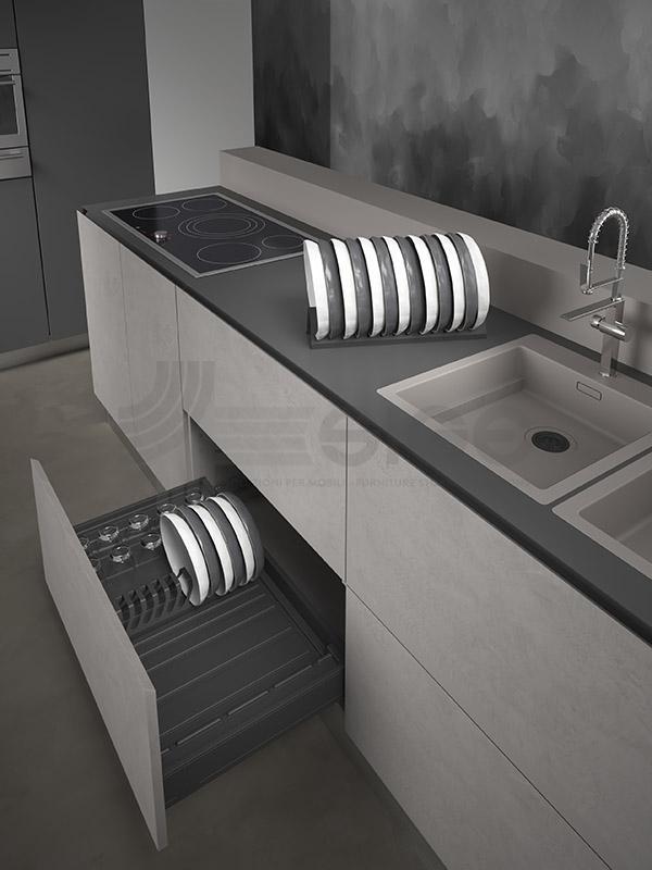 SIGE 098V vaschetta da appoggio cucina