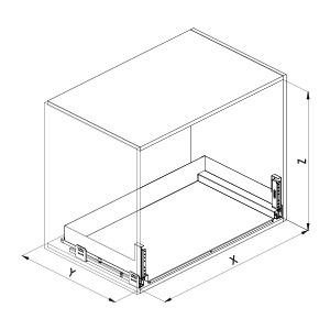 SIGE 116PRO cassetto estraibile cucina disegno tecnic