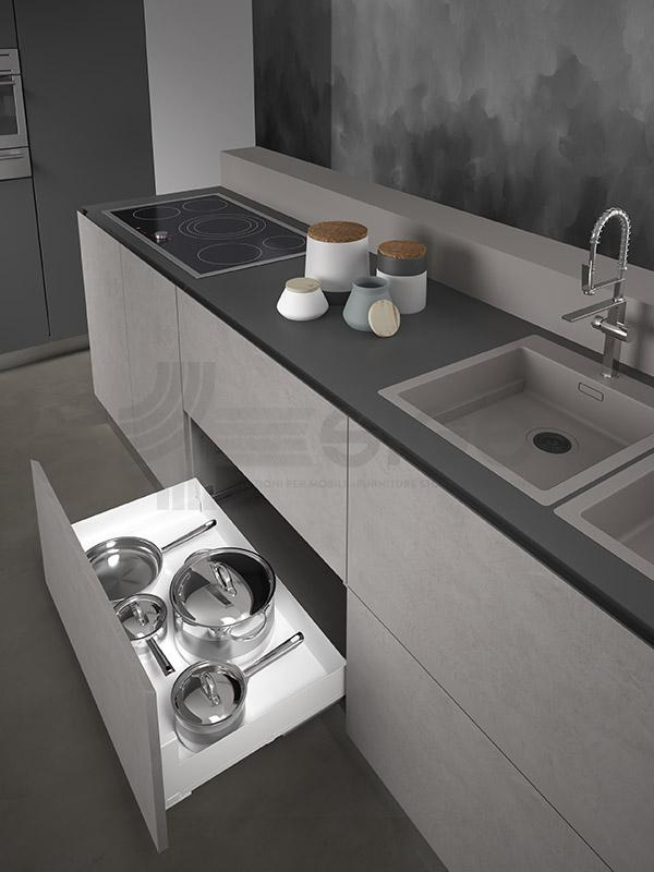 SIGE 116PRO cassetto estraibile cucina white