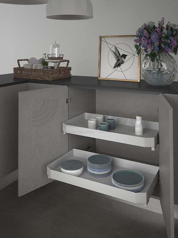 SIGE 119PRO cassetto estraibile cucina white