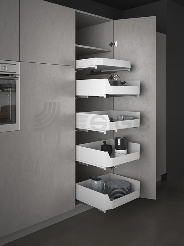 SIGE 119PRO cestello colonna estraibile cucina white