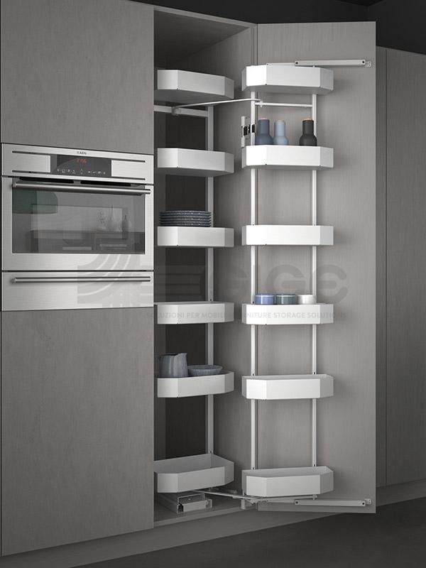 SIGE 230A PRO colonna attrezzata estraibile cucina white