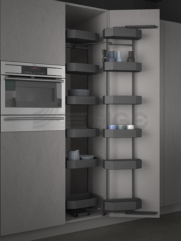 SIGE 230APRO colonna attrezzata estraibile cucina