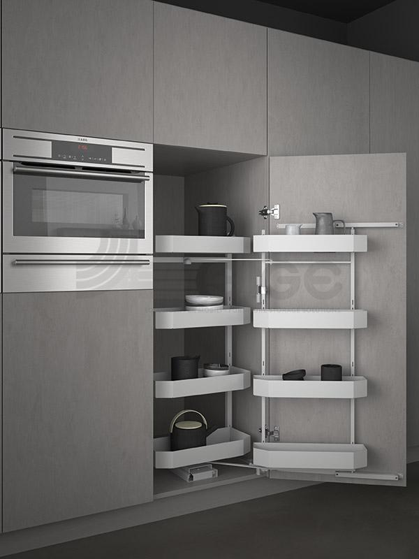SIGE 230BPRO-colonna-attrezzata-estraibile-cucina-white
