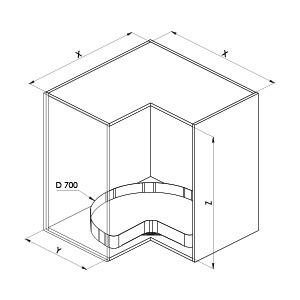 SIGE 363PRO cestello girevole-cucina-disegno-tecnico