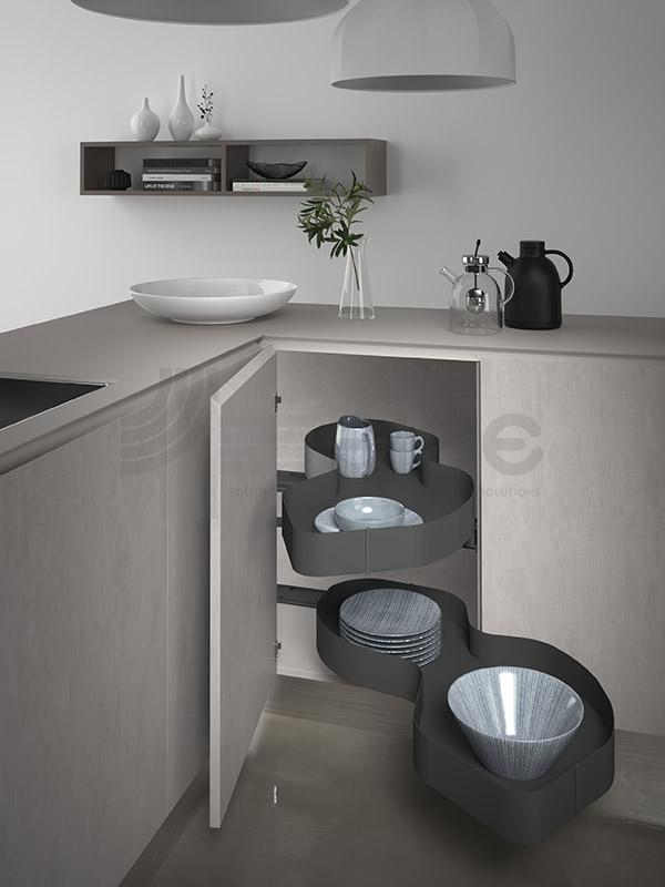 SIGE 371PRO ripiano angolo base etraibile cucina