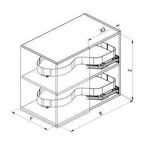 SIGE 371PRO ripiano estraibile angolo cucina disegno tecnico