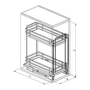 SIGE 004 cestello cucina disegno tecnico