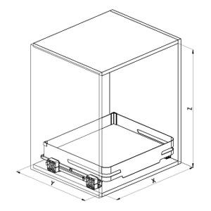 SIGE 119M cassetto cucina disegno tecnico