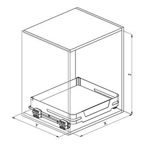 SIGE 119ME cassetto cucina disegno tecnico