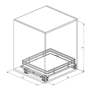 SIGE 119+ cassetto cucina disegno tecnico