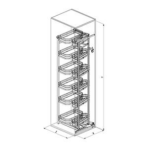SIGE 230A+ colonna cucina disegno tecnico