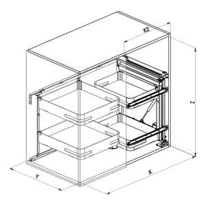SIGE 350M angolo cucina disegno tecnico