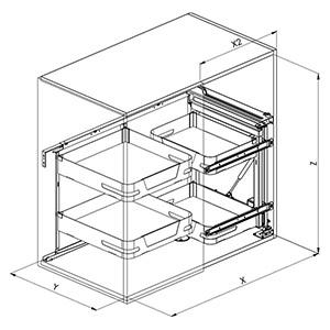 SIGE 350ME angolo cucina disegno tecnico