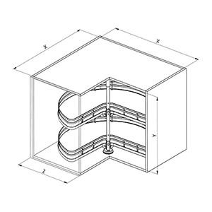 Sige 361+ angolo cucina disegno tecnico