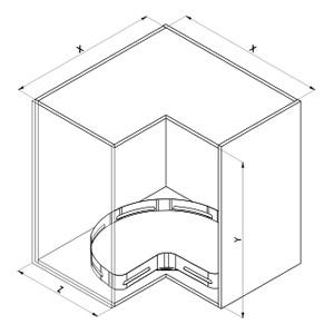 SIGE 363M angolo cucina disegno tecnico