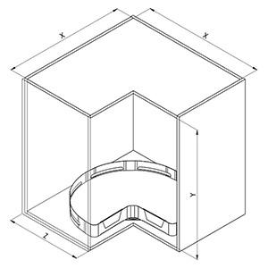 SIGE 363ME angolo cucina disegno tecnico