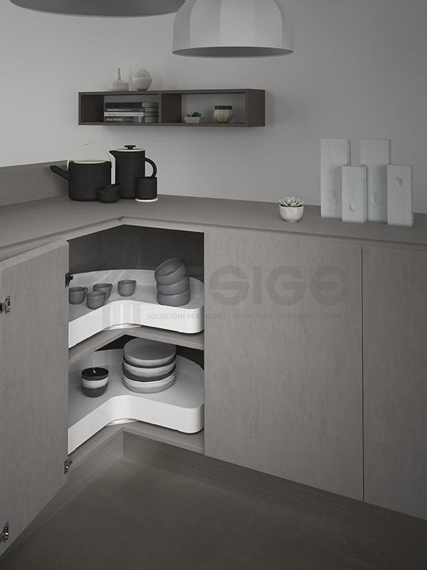 SIGE 363PRO angolo base girevole cucina white