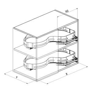 SIGE 371M angolo cucina disegno tecnico