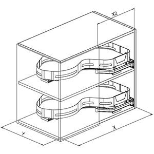 SIGE 371ME angolo cucina disegno tecnico