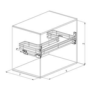 Sige 700+ cassetto cucina disegno tecnico