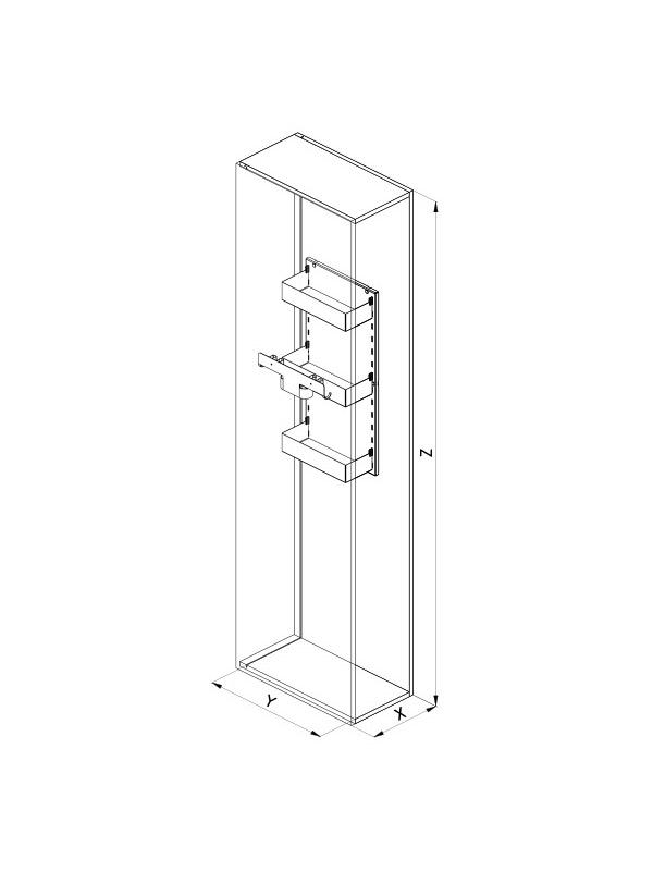 SIGE A.Posto ART 610S L300 disegno tecnico
