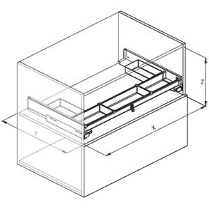 720A disegno tecnico kit sottolavello