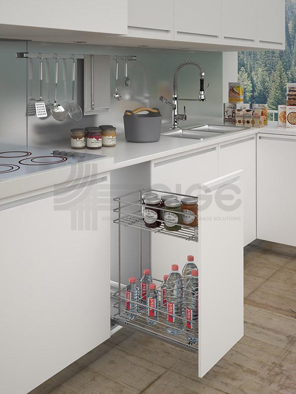 004S cestello estraibile con portabottiglie cucina