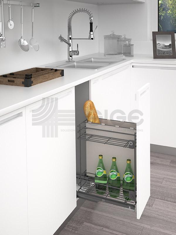 007G cestello estraibile cucina portapane bottiglie