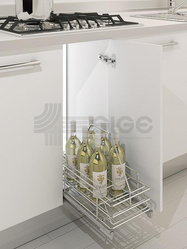 064G Scestello-estraibile porta bottiglie cucina