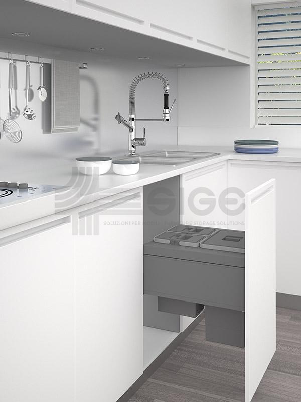 552BL pattumiera wstraibile cucina