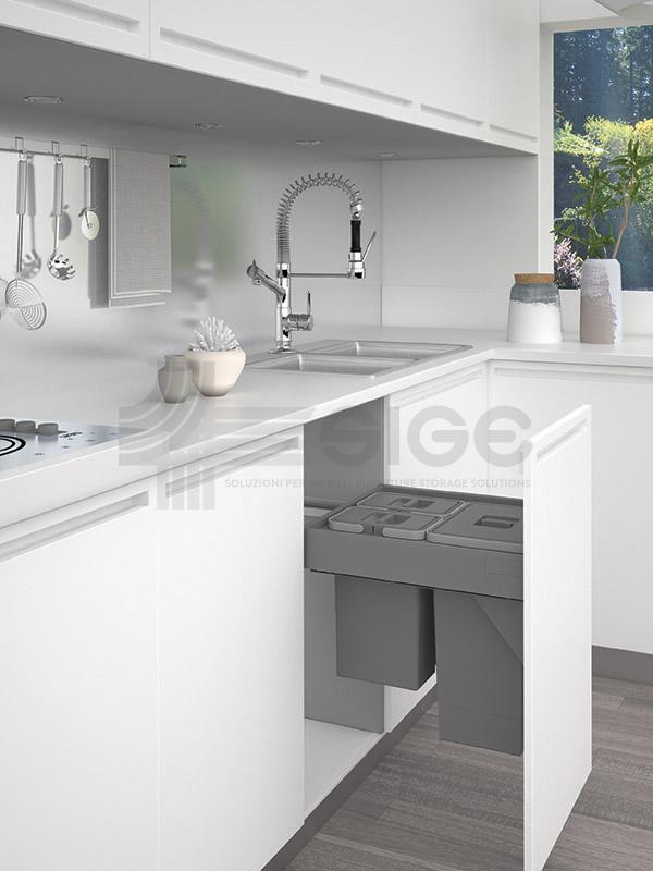 552U pattumiera wstraibile cucina