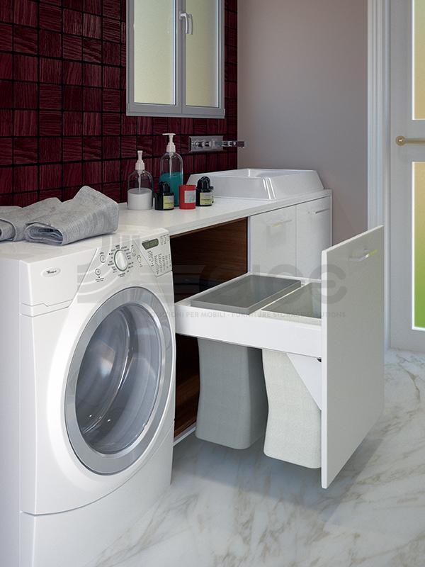 513U Laundry portabincheria doppio sacco
